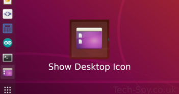 Ubuntu Dock Show Desktop Icon