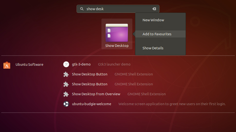 Ubuntu Show Desktop Icon