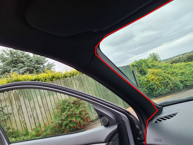 Front dash cam wire routing
