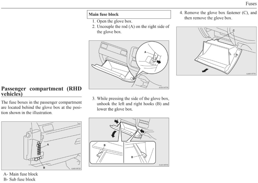 Outlander glove box removal instructions